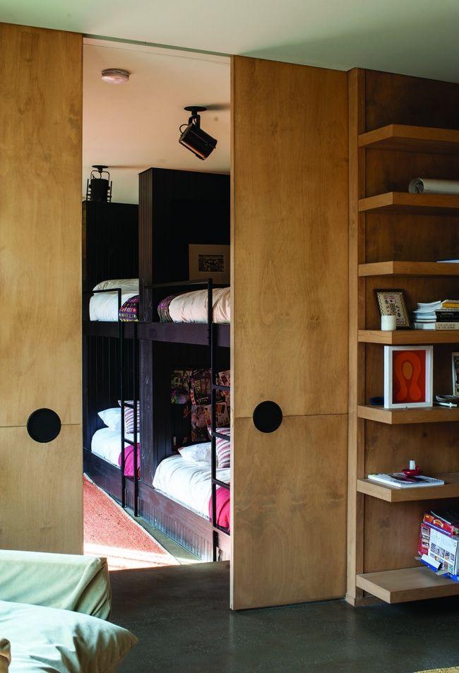 wooden doors and shelves..