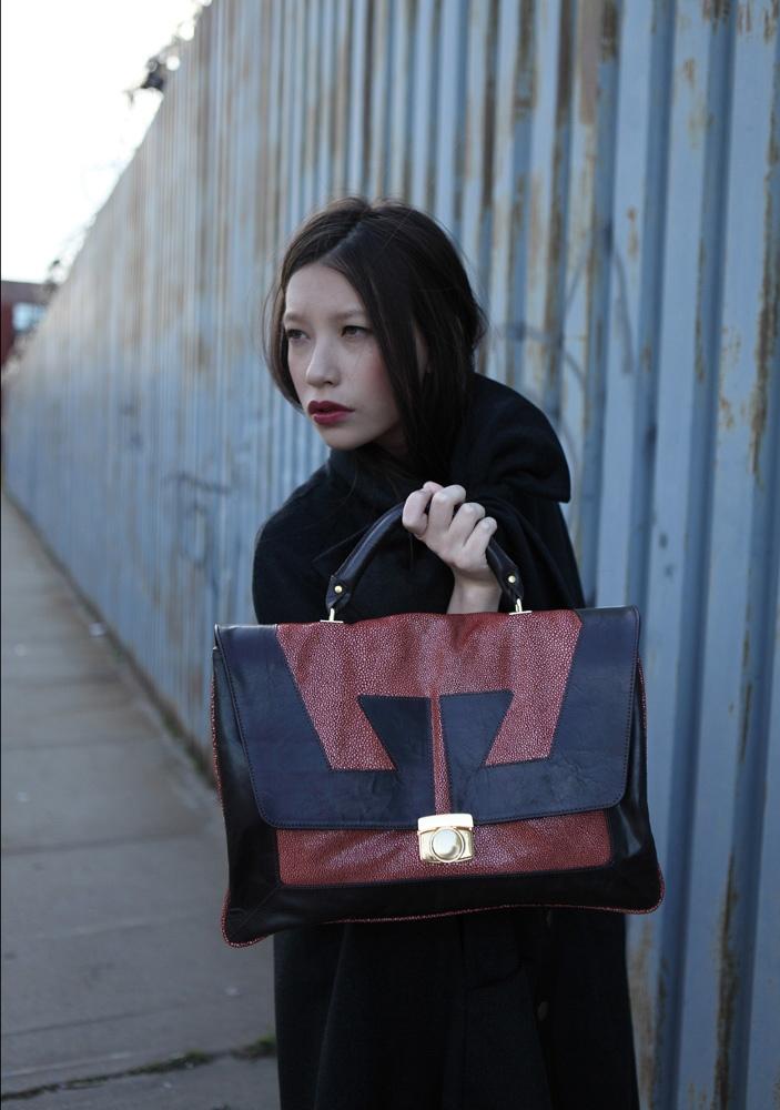 La Garçonne Briefcase: Corrente Handbags: Made in USA