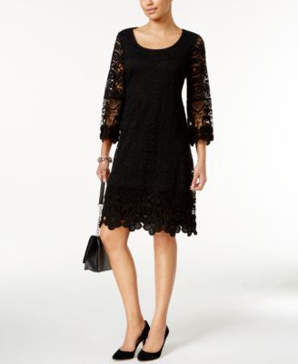 Alfani Crochet-Trim Illusion Dress, Only at Macy's | macys.com