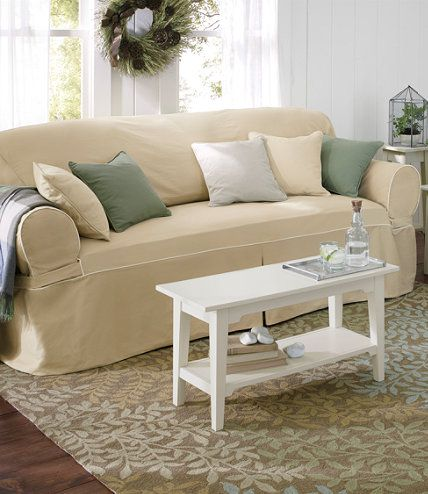 Washable Furniture Slipcovers: Slipcovers | Free Shipping at L.L.Bean, chair slip cover