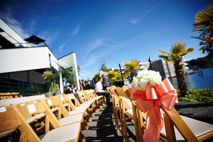 An Outdoor Wedding Ceremony At London S Hunt Club: Outdoor Ceremony On The Waterfront Patio Overlooking The