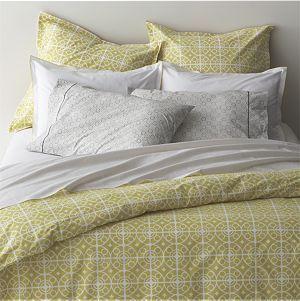 Taza Bed Linens $100 duvet cover, $20 sham
