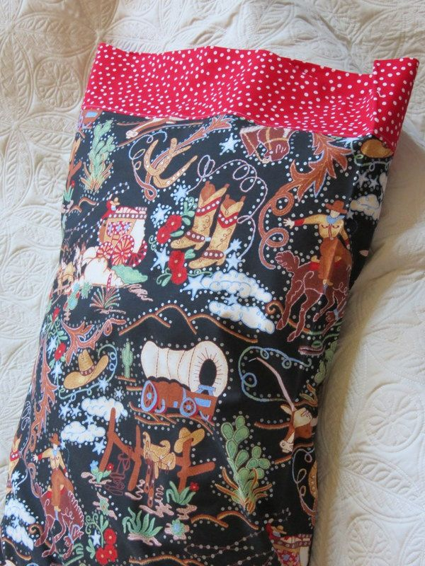 Cowboys, Stagecoaches, Horses and Boots on Pillow Case, Pillowcase Made by Kids 4 Kids, Charity Item by stitchemup on Etsy