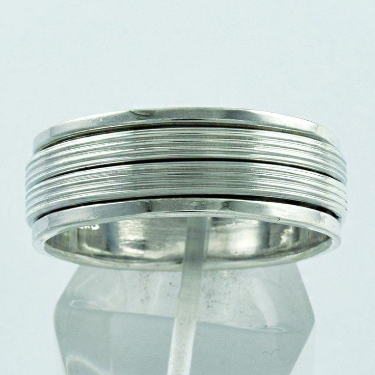 LOVELY DESIGN 925 HANDMADE STERLING SILVER SPINNER RING…