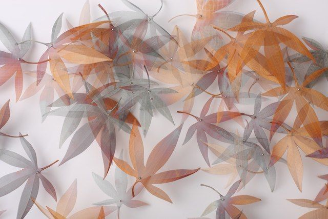 Metal Leaf and Seed Installations by Michelle Mckinney