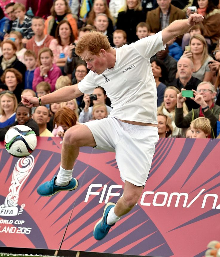 Prince Harry Plays Football In New Zealand