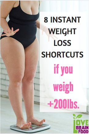 8 Instant Weight Loss Shortcuts If You Weigh Over 200lbs | | Weight Loss at 200 lbs | Diet Challenge If You Weigh 200 lbs | LoveBrainFood.com