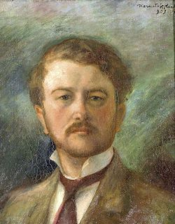 "Kernstok Károly (1873-1940): Hungarian ost-impressionist, Member of ""the Eight"". önarcképe/selfportrait,1903"