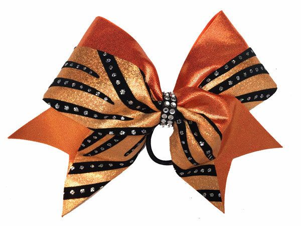 Cheer Bows Etc | Cheerleading Bows - Orange Sparkle Swish Bow , $17.50 (http://www.cheerbowsetc.com/products/orange-sparkle-swish-bow.html)