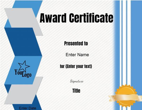 Good These Free Certificate Templates Can Be Used For Any Purpose. You Can  Customize The Text With Our Online Certificate Maker.  Certificate Maker Online Free