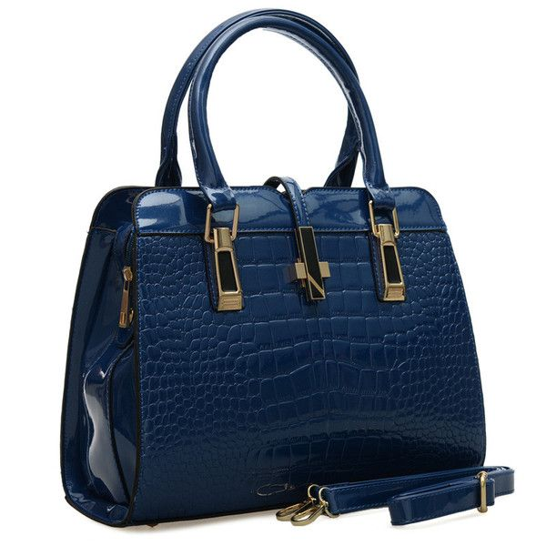 VK Designer - Gorgeous  Croc Faux Leather High Gloss Finish Tote Handbag