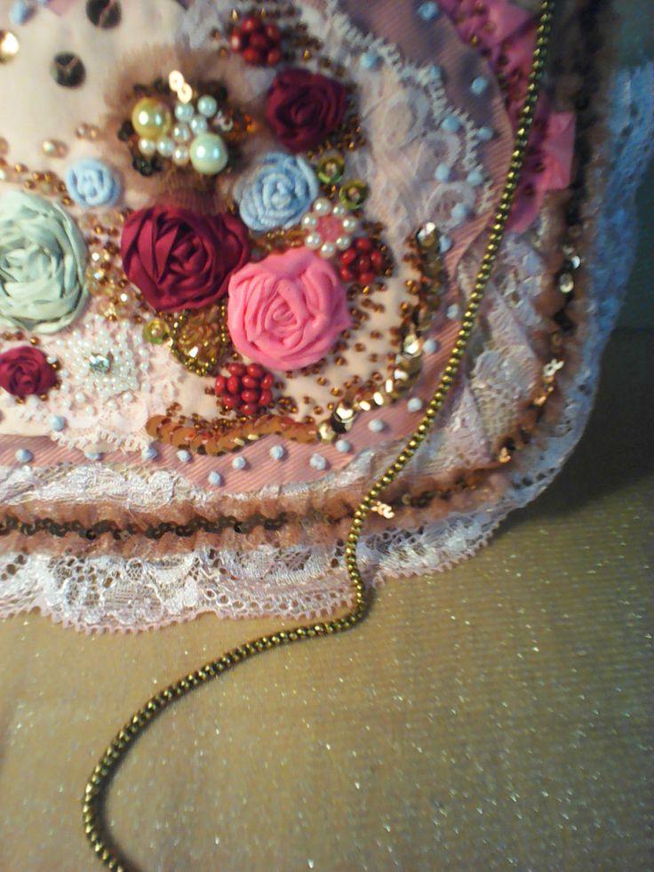 Borsa Teatro Sera Borsetta Ricamata Rosa sac HANDBAG Pizzo Perle HANDTASCHE in Abbigliamento e accessori, Donna: borse | eBay