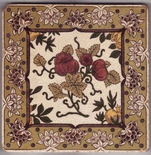 Victorian Ceramic Tile - 1860 to 1890