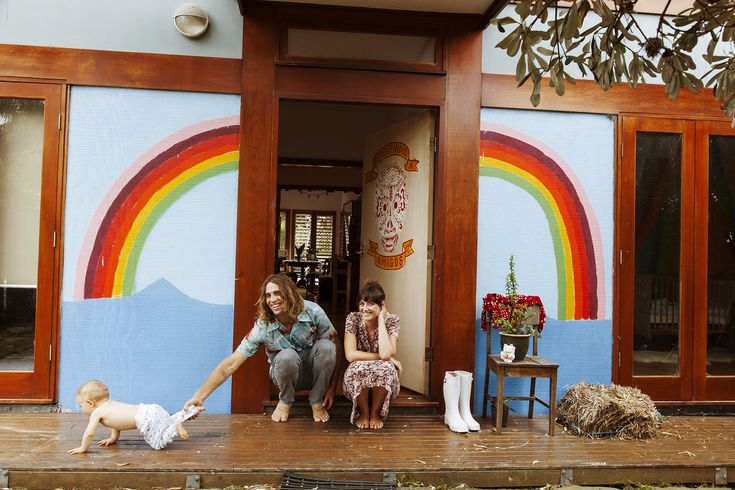OZZIE WRIGHT - SURFER AND ARTIST; MYLEE GRACE - MUSICIAN AND ROCKY RIVER AT HOME IN SYDNEY