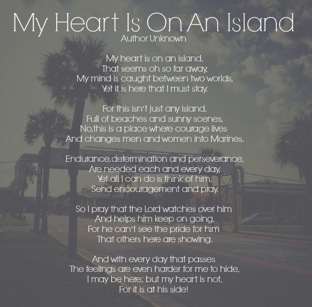 My Heart Is On An Island - Parris Island - USMC bootcamp