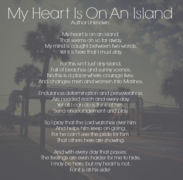 My Heart Is On An Island - Parris Island - USMC bootcamp