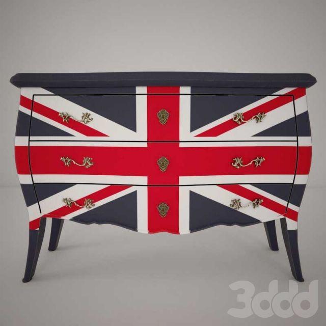 Комод с британским флагом