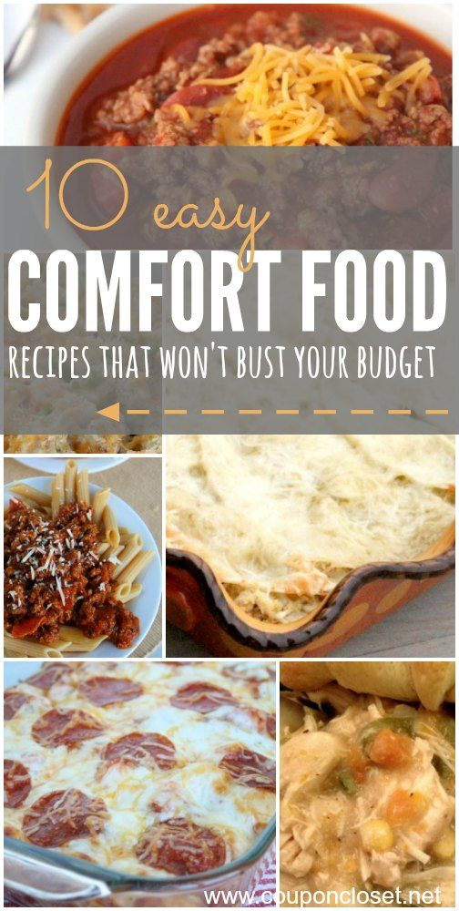 Who is ready for fall and winter? Here are some Comfort Food Recipes that your family will love!