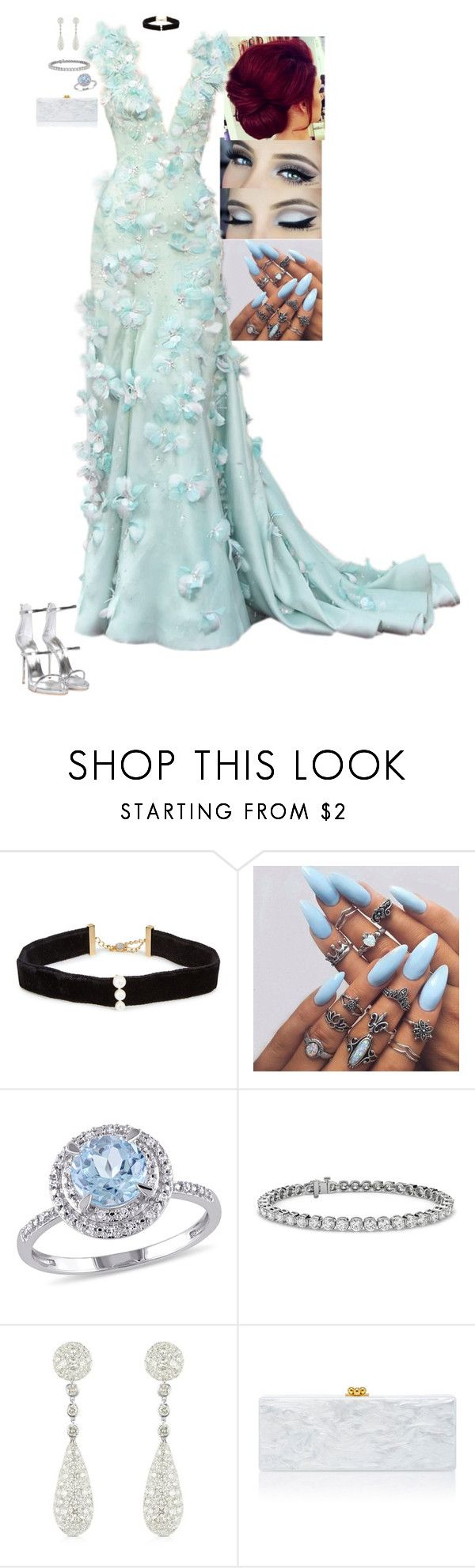 """Glass Slipper - Cocktails by Cody"" by stinze on Polyvore featuring Anissa Kermiche, Modern Bride, Blue Nile, Giorgio Armani, Colucci Diamonds, Edie Parker and Giuseppe Zanotti"