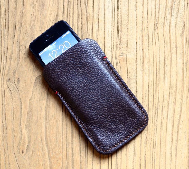 Hand Stitched Leather iPhone Case