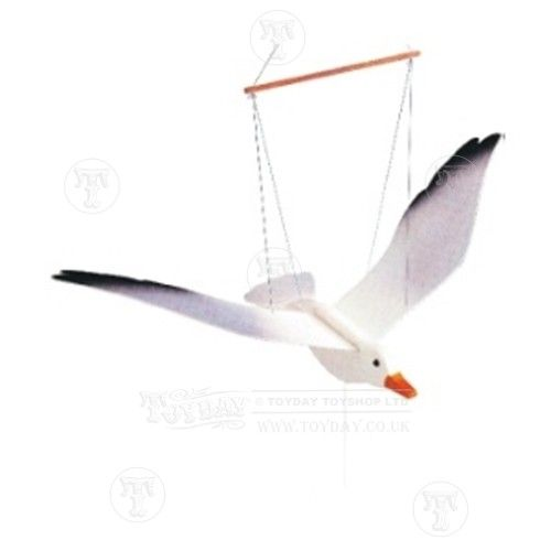 Wooden Flying Seagull: Only £10.99 from Toyday Toyshop. A wooden seagull decoration. Toyday traditional & classic toys is an old fashioned toy shop on the high street and online. Merchants of traditional and classic toys, Toyday's focus is on good old fashioned customer service & traditional value.