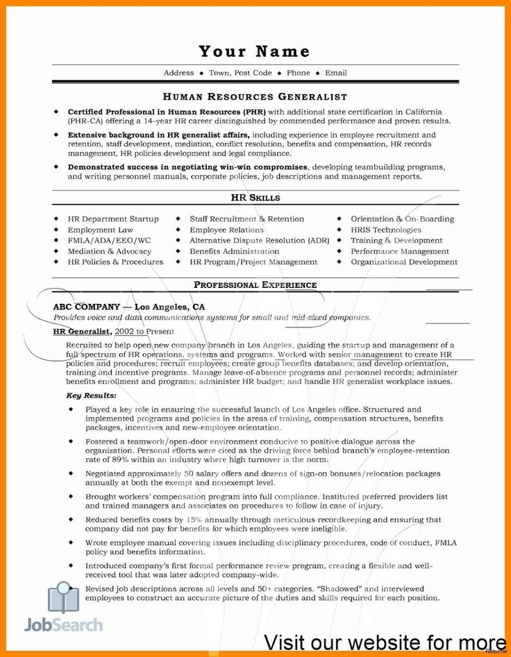 Resume for Human Resources Job in 2020 Resume template