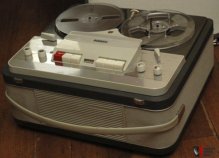 Vintage Phillips EL3549 4 Track Reel To Reel Tape Recorder