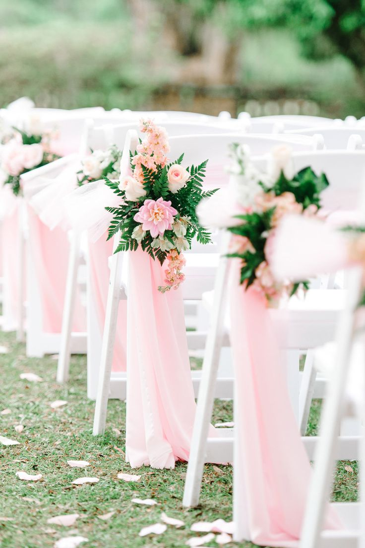 52 best Ceremony Chair Decor images on Pinterest | Decorated ...