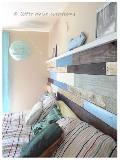 Idea. Cabecero de cama con palets