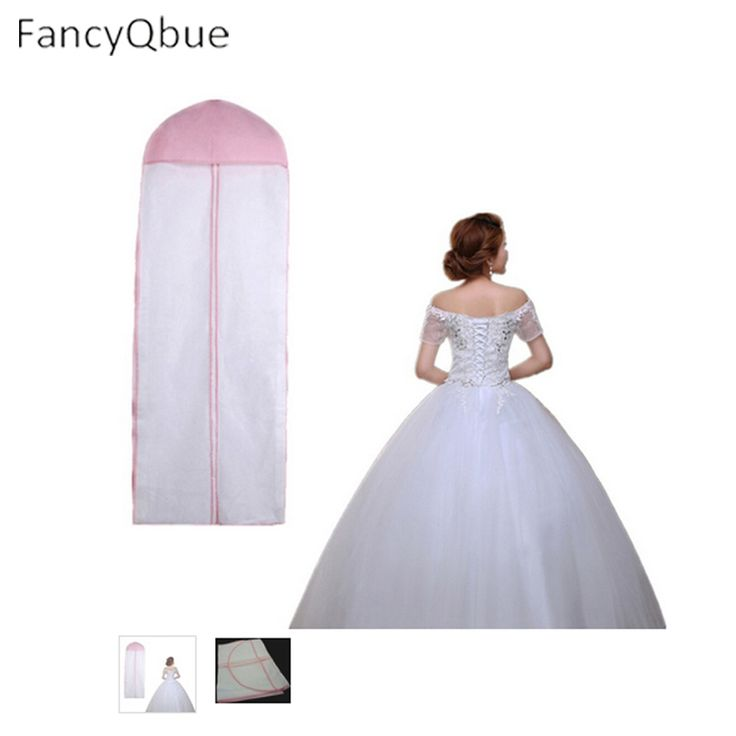 Length 155 Cheap Wedding Dress Bags Clothes Cover Dust Cover Garment Bags Bridal Gown Bag For Mermaid Wedding Dress Cover