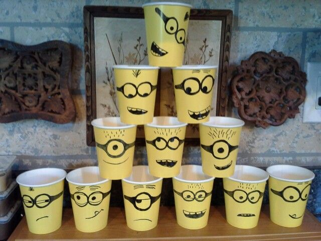 Minion party cups!