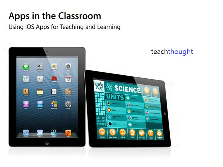 Apple's Official Guide To Teaching With Apps - brief overview by t@achthought and a great document to consider as you begin selecting apps for your classroom