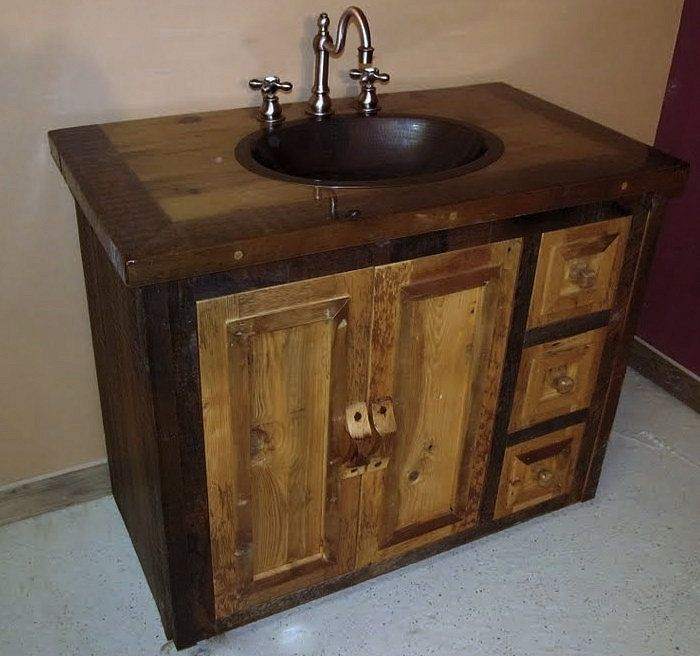 Photos On Canyon River Reclaimed Wood Vanity