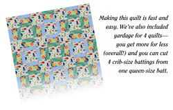 This is a fun pattern, makes a cute baby quilt