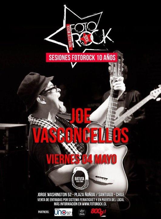 Esta noche Joe Vasconcellos en vivo en La Batuta http://www.productonacional.cl/joe-vasconcellos-en-vivo-en-la-batuta-4-de-mayo
