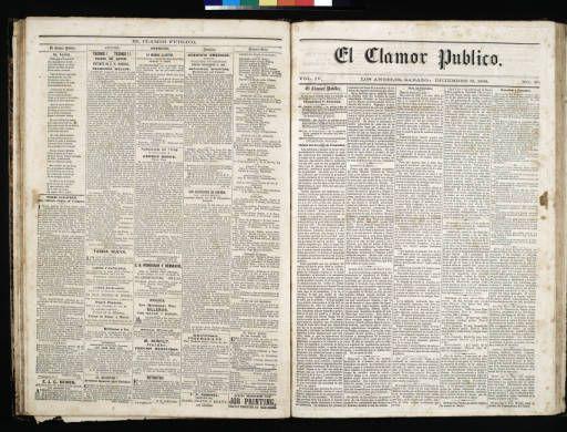 El Clamor Publico, vol. IV, no. 26, Diciembre 25 de 1858 :: El Clamor Publico Collection, 1855-1859