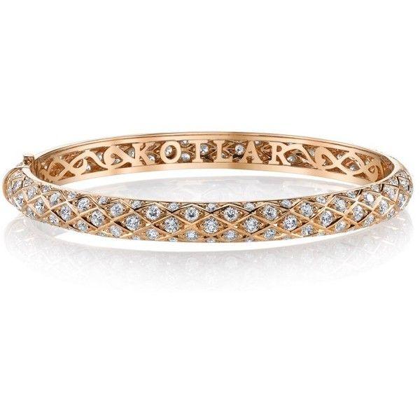 Harry Kotlar Pear Shape & Marquise diamonds Pave Bracelet x9jgzNg