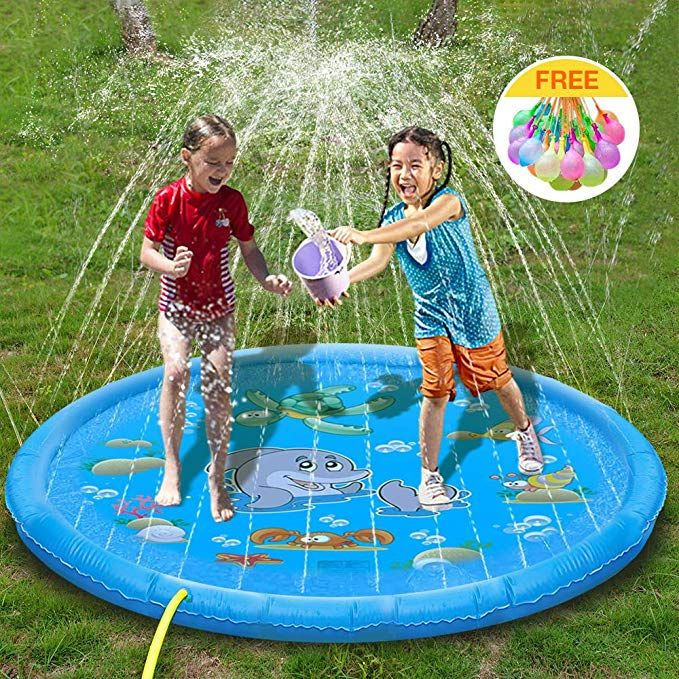 Multifun Splash Pad 68sprinkler Splash Play Mat For Kids Learning Outdoor Water Fun Inflatable Water Toys Wading Pool F Kids Sprinkler Outdoor Kids Water Toys
