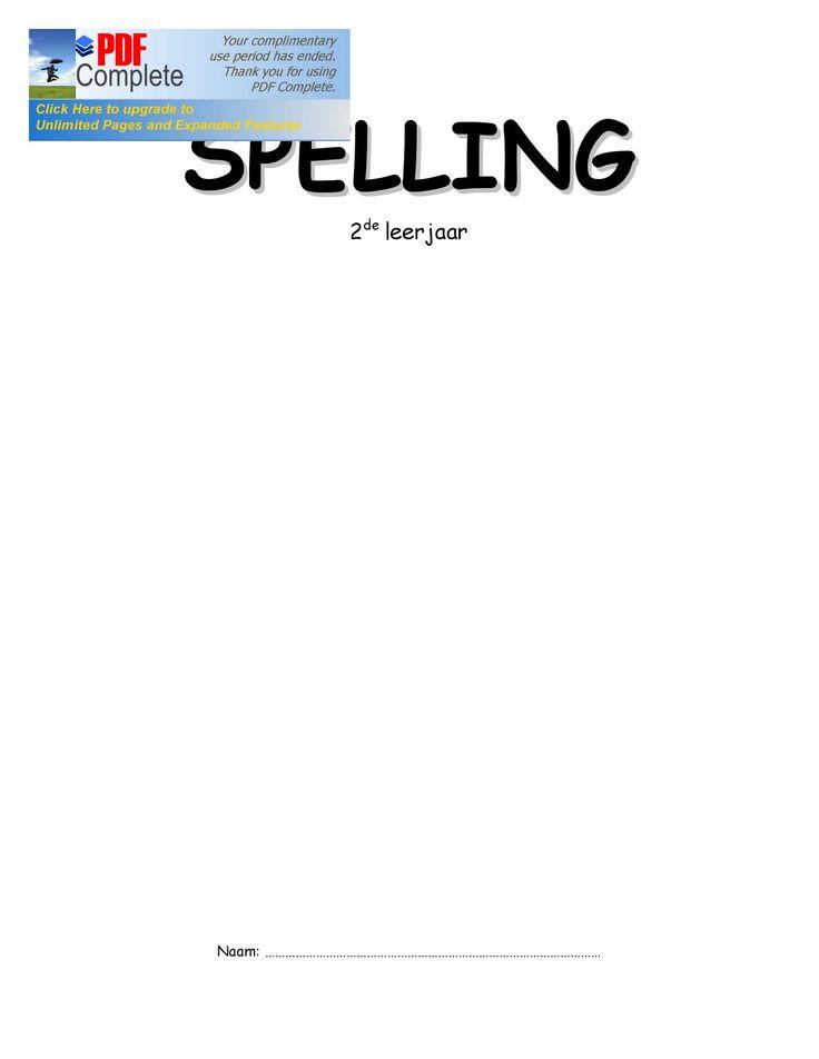 spelling 2de leerjaar   oefenboek