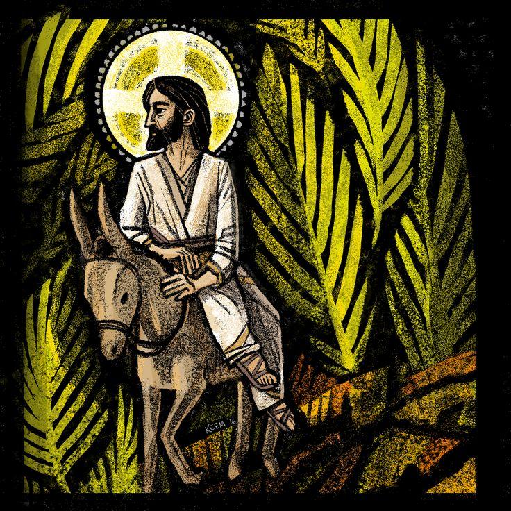 Palm Sunday   Kristin Miller Liturgical/Ecclesiastical Illustrations   Patreon