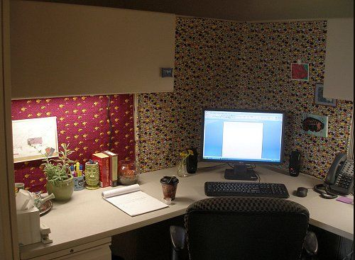 Haleigh 39 s blog office cubicle decorating thrifty ways to for 70s office design