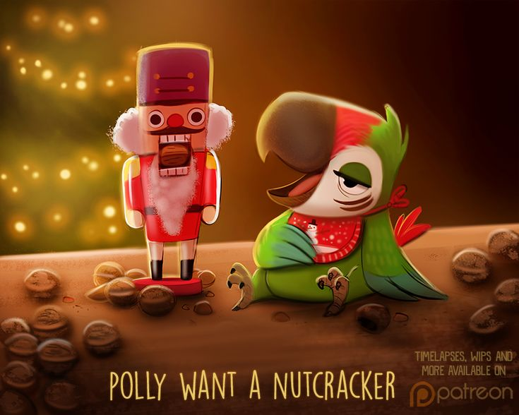 Daily Paint 1496. Polly Want a Nutcracker by Cryptid-Creations.deviantart.com on @DeviantArt