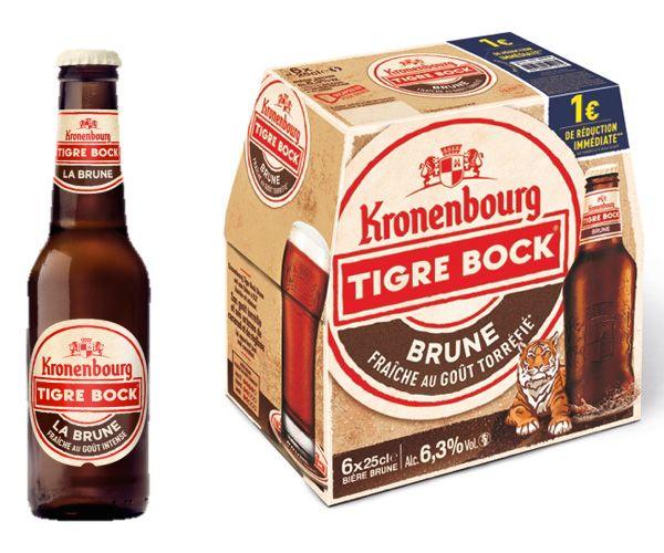 L'offre Kronenbourg Tigre Bock Brune en grandes surfaces #biere #gastronomie