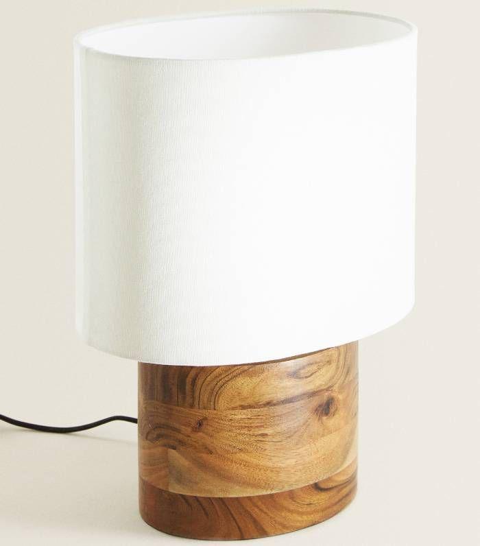 Zara Home Table Lamp With Wooden Base Zara Home Lamps Zara Home Zara Home Table