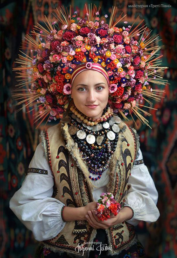 Traditional Ukranian floral headdresses. Gloucestershire Resource Centre http://www.grcltd.org/home-resource-centre/