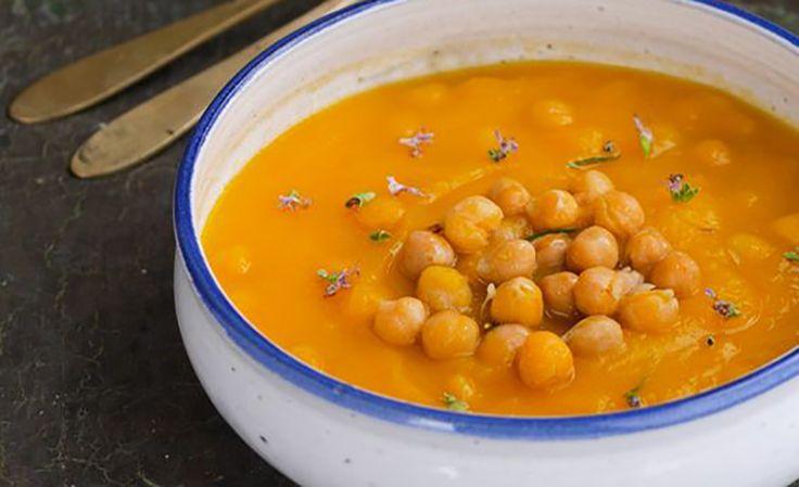 Zuppa di zucca e ceci