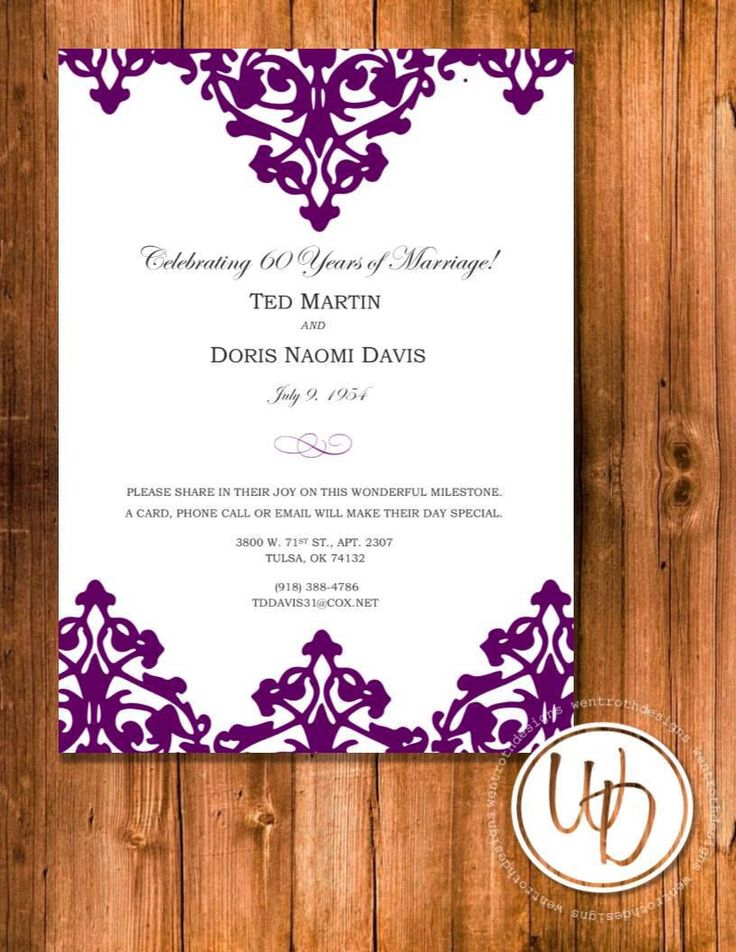 12 best Mom and Dadu0027s 30th anniversary images on Pinterest - create invitation card free download