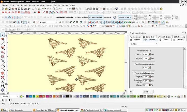 Pruebas de matrices para bordados en wilcom embroidery studio