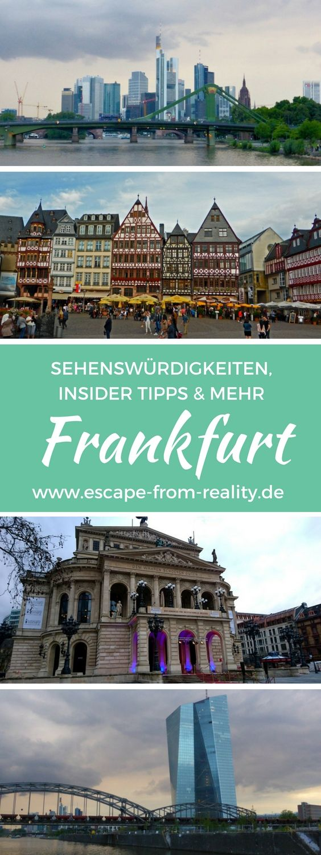 Frankfurt: Sehenswürdigkeiten, Insider Tipps und mehr - Die Stadt am Main steht für Hochhäuser und Big Business. Doch es lohnt sich, genauer hinzuschauen, hinter die Fassaden der Skyline zu blicken. Warum also nicht mal einen Städtetrip nach Frankfurt machen oder bei der nächsten Geschäftsreise in die Mainmetropole noch etwas Zeit für Entdeckungen einplanen?! #frankfurt #sehenswürdigkeiten #städtetrip