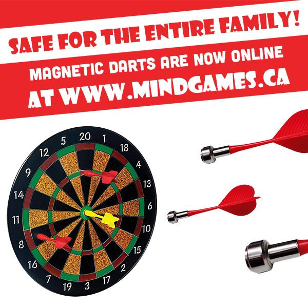This Magnetic Dart Board allows you to enjoy all of the challenges and excitement of darts, but without the dangers of sharp metal tips flying around everywhere! Instead, each dart features a high-powered magnet that will stick to the board when thrown at it. Avoid holes in the walls and possible injuries from sharp objects by investing in this kid-friendly board. The Magnetic Dart Board is highly recommended as an alternative to use for party games or for use in dorm rooms and classrooms!